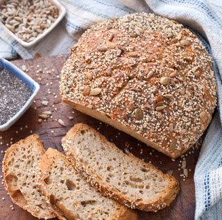Kneadless Seeds-A-Plenty Wheat Bread–When the Bakery is Bare, Bake Your Own