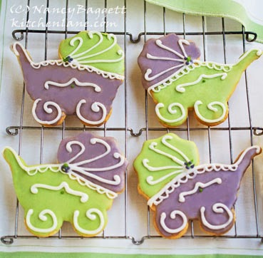 Cute Baby Carriage Shower Cookies