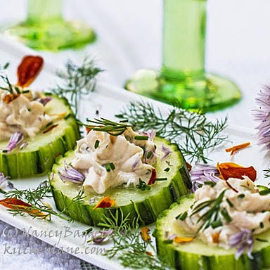 Fancy Schmancy Cool as a Cucumber Canapés + Tips on Turning Dishes into  Party Food