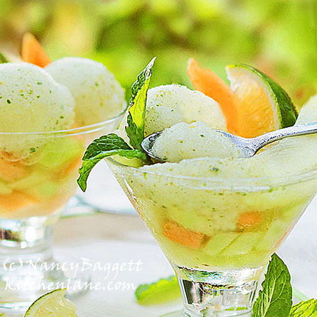 Mojito-Lime Sorbet with Fresh Mint–Stay Cool My Friends