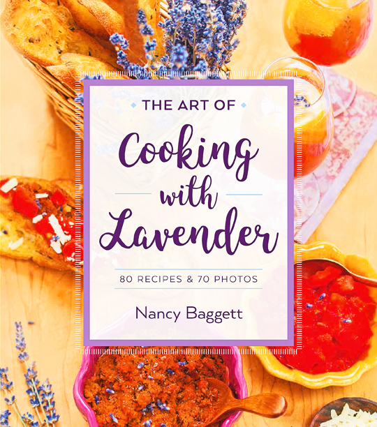 Modern Recipe Book Cover ~ The art of cooking with lavender new cookbook