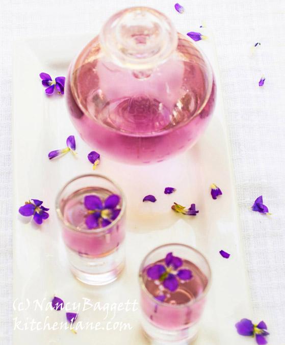 Got Spring Violets? Make Violet Liqueur