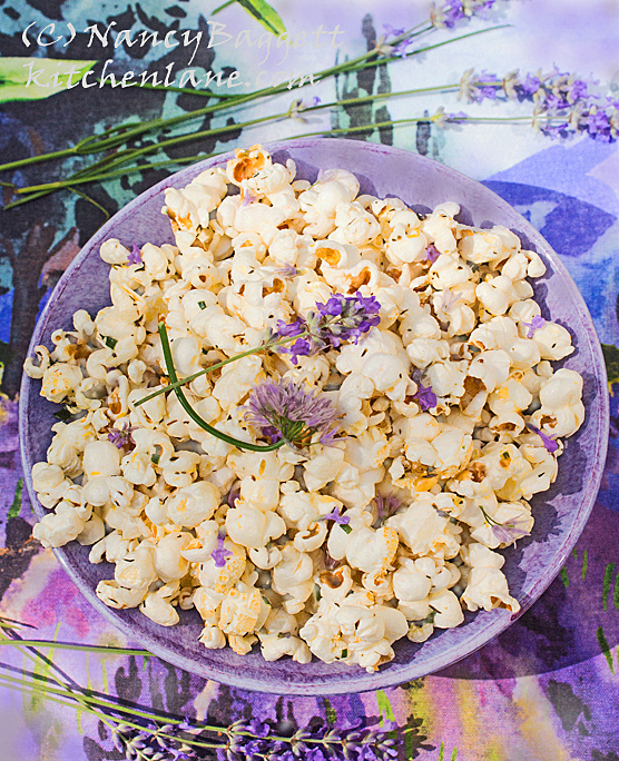Lavender and Chive Herbed Popcorn–Best Ever Recipe